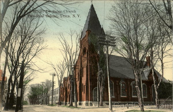 Frances De Sales Church, Parochial School Utica New York