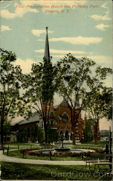 First Presbyterian Church And Pulteney Park Geneva New York