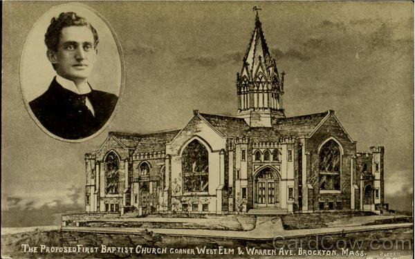 The Proposed First Baptist Church, Corner West Elm & Warren Ave Brockton Massachusetts