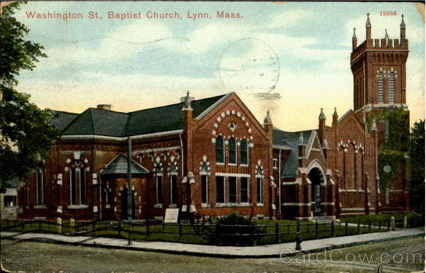 Baptist Church, Washington St Lynn Massachusetts