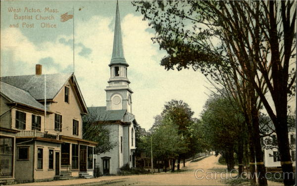 Baptist Church And Post Office West Acton Massachusetts
