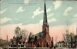St. MAry's Church and ractoey Postcard