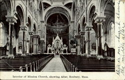 Interior Of Mission Church, Showing Alter