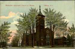 Methodist Episcopal Church & Manse Postcard