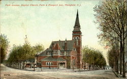 Perk Ave., Baptist Church, Park & Prospect Ave.