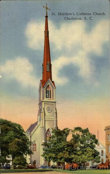 St Matthew S Lutheran Church 403 King Street Charleston Sc