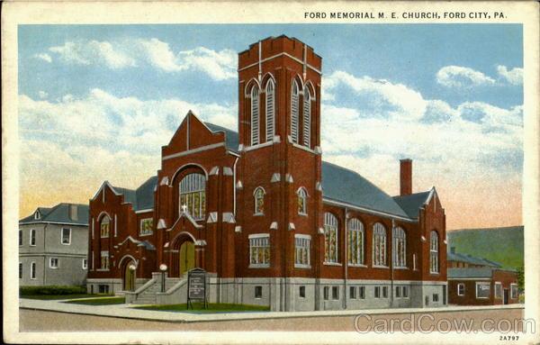 Ford Memorial M. E. Church Ford City Pennsylvania