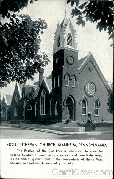Zion Lutheran Church Manheim Pennsylvania