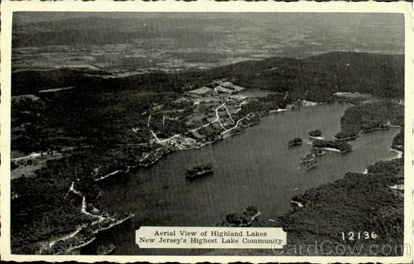 Aerial View Of Highland Lake New Jersey