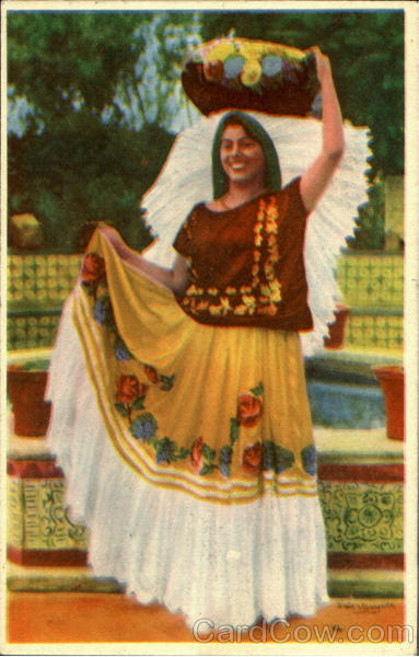 Indian Type Woman from Oaxaca Mexico