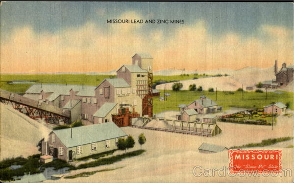Postcard MO Missouri Joplin Zinc Lead Mining Newton County