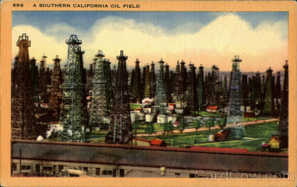A Southern California Oil Field Oil Wells