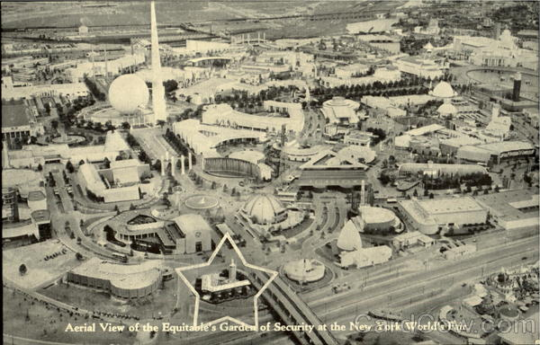 Aerial View Of The Equitable's Garden Of Security 1939 NY World's Fair