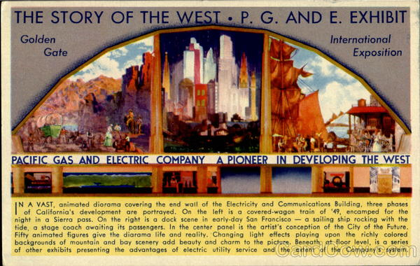 The Story Of The West P. G. And E. Exhibit Exposition