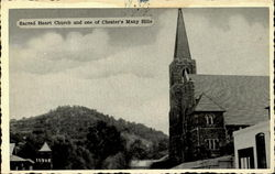 Sacred Heart Church And One Of Chester's Many Hills