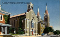 St. Johns Evangelical Church And St. George Lithuanian Church Postcard