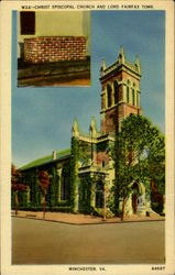 Christ Episcopal Church And Lord Fairfax Tomb Postcard