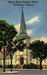 Sacred Heart Catholic Church Postcard
