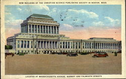 New Building Of The Christian Science Publishing Society In Boston, Massachusetts Avenue