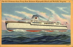 The S. S. Princess Anne Ferry Boat Postcard