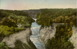 Middle Falls From Inspiration Point, Letchworth State Park