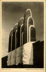 Pylons - Hall Of Social Science Postcard