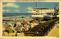 Lifeguard Headquarters On The Beach Postcard