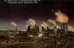 Night View Of Carnegie Illinois Steel Co.