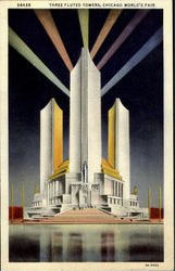 Three Fluted Towers Postcard