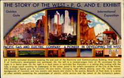The Story Of The West P. G. And E. Exhibit