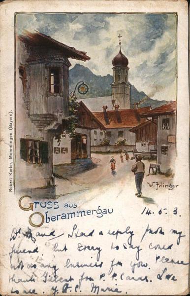 Gruss aus Oberammergau (Bavaria) Germany