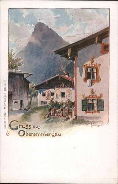 Gruss aus Oberammergau Germany