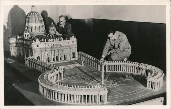 1:100 scale model of the Basilica of St Peter Rome Italy
