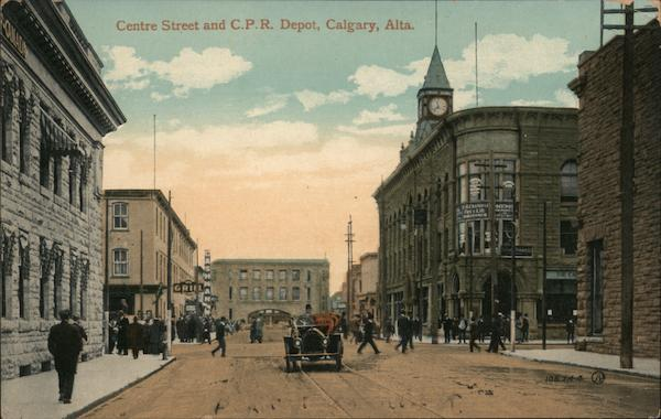Centre Station and Canadian Pacific Railway Depot Calgary AB Canada