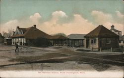 Boston and Worcester Railroad Station Postcard