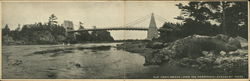 Old Chain Bridge, Over the Merrimack River Postcard