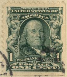 1c Franklin Stamp