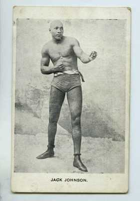 RARE Jack Johnson New Zealand Boxing Postcard w/ Early Pose