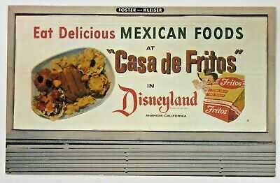 very rare 1955 CASA DE FRITOS DISNEYLAND unused postcard