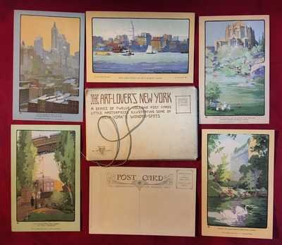 Rachael Robinson Elmer Complete Set W Envelope Art Lovers NY New York City