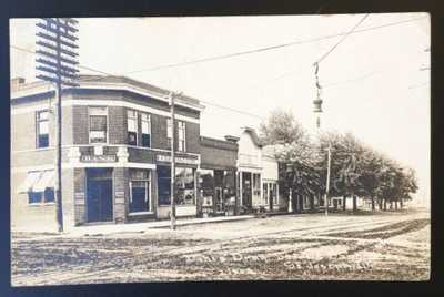 RPPC Duke's Drug Store And Bank St. Joseph Illinois Champaign County C.R. Chil