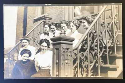 RPPC Lady Teachers Of Urbana High School Spring 1912 Photo Rose Studio Champaign
