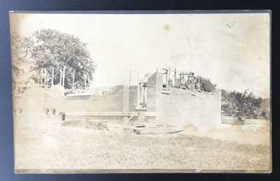 2 RPPC's Of Lutheran Church Under Construction Philo, Illinois Champaign Count
