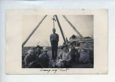 1910's Wild West Frontier Man Hanged Hinging Postcard RPPC Photo #5