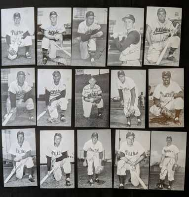1950s Phillies & Kansas City Athletics J.D. McCarthy Postcards w/ Maris (15cds)