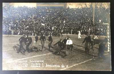 "Rare Strauch RPPC Of ""The Disputed Touchdown"" University Of Illinois Homecom"