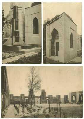3 x Judaica Russia St. Petersburg Jewish Cemetery Arch. I. Gevirtz