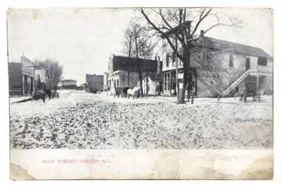 Main Street Tolono, Illinois Champaign County McNichols & Boone Grocers