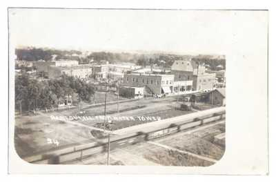 RPPC Birds Eye View Rantoul, Illinois From Water Tower. Champaign County Train