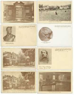 1939 National Baseball Hall of Fame 754-1 Creme & Sepia Postcards (8pcs)